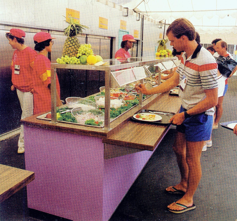 1984 olympics food salad bar