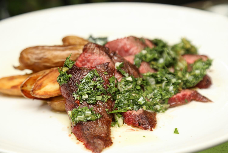 alcove dinner flat iron steak
