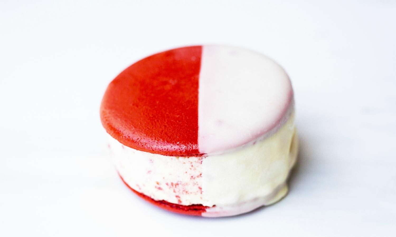milk ice cream sandwiches red velvet