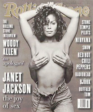 Janet Jackson on the cover of Rolling Stone
