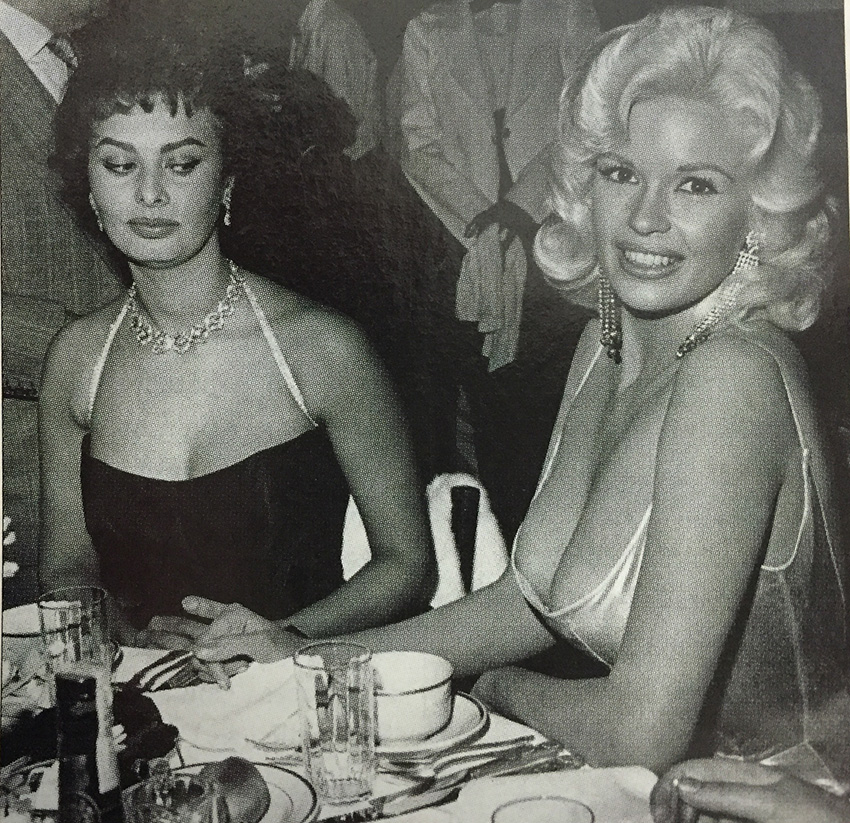 Sophia checks out Jayne at Romanoff's in 1958