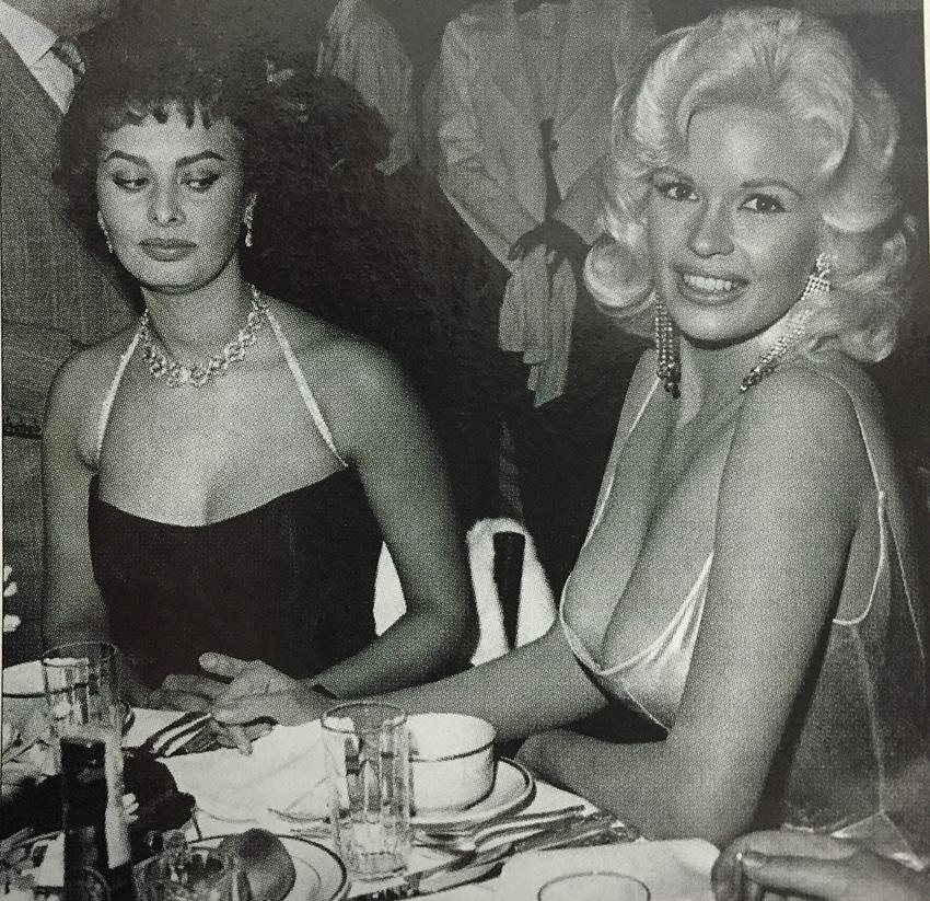 Sophia checks out Jayne at Romanoff's in 1958