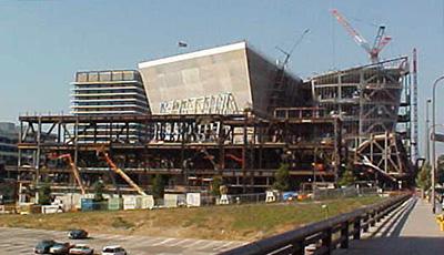 Walt Disney Concert Hall under construction