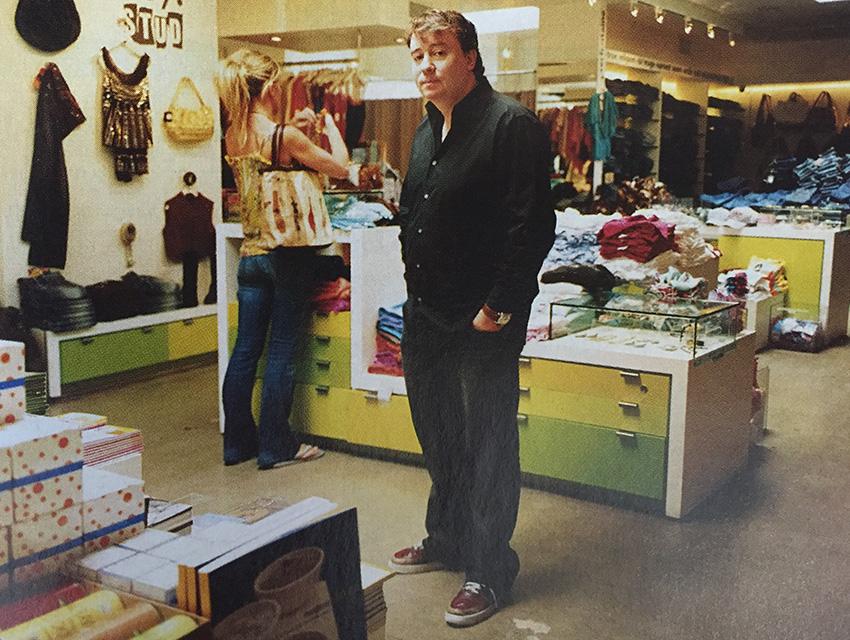 Fraser Ross inside his store, Kitson