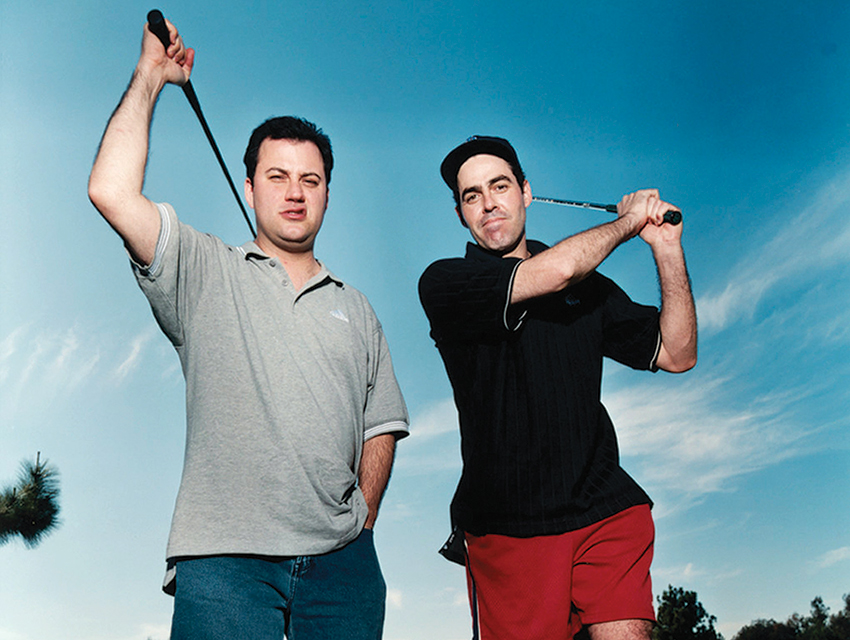 Jimmy Kimmel (left) and Adam Carolla are so close, says a friend, that if they were gay, they'd be life partners