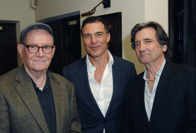 Buck Henry, Andrea Balaz and Griffin Dunne
