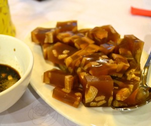 Pork skin jelly appetizer at Beijing Pavilion