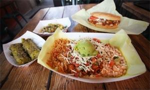 Vegan food at Hugo's Tacos in Studio City