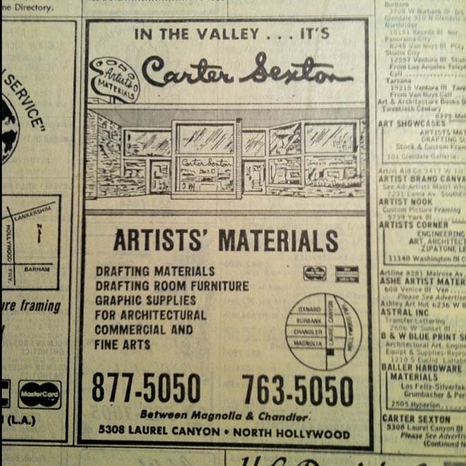 2/13 month: Yellow Pages Ads From The (213) Years: Carter ...  Yellow Pages Book Advertising