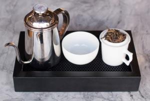 Gongfu tea service at Seventh Tea Bar in Costa Mesa