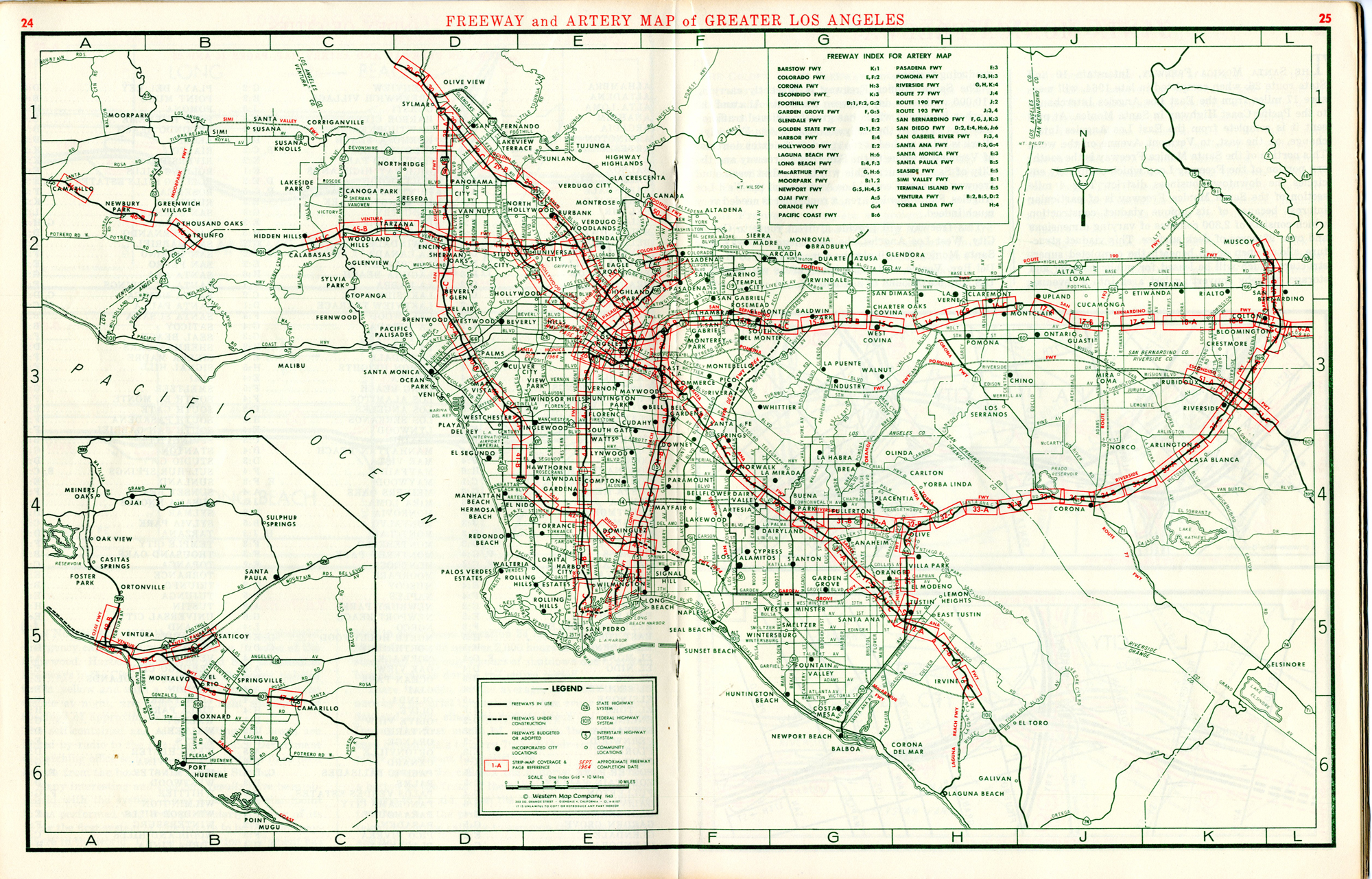 Map Of California 5 Freeway.A Freeway Atlas From Before You Could Say You Took The 5 To The 2 To