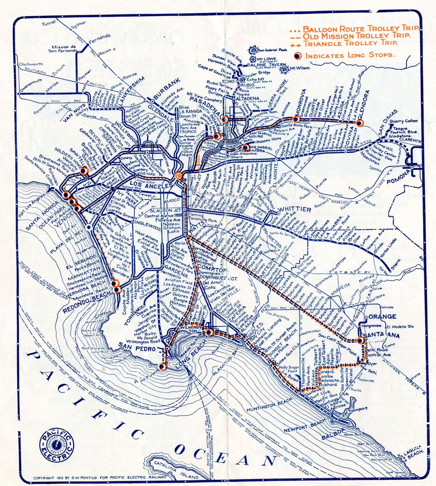 CityDig: DayTrippin' on The Pacific Electric Trolley Los ... on school bus route map, light rail route map, people mover route map, st. charles streetcar route map, septa bus route map, monorail route map, honolulu bus route map,