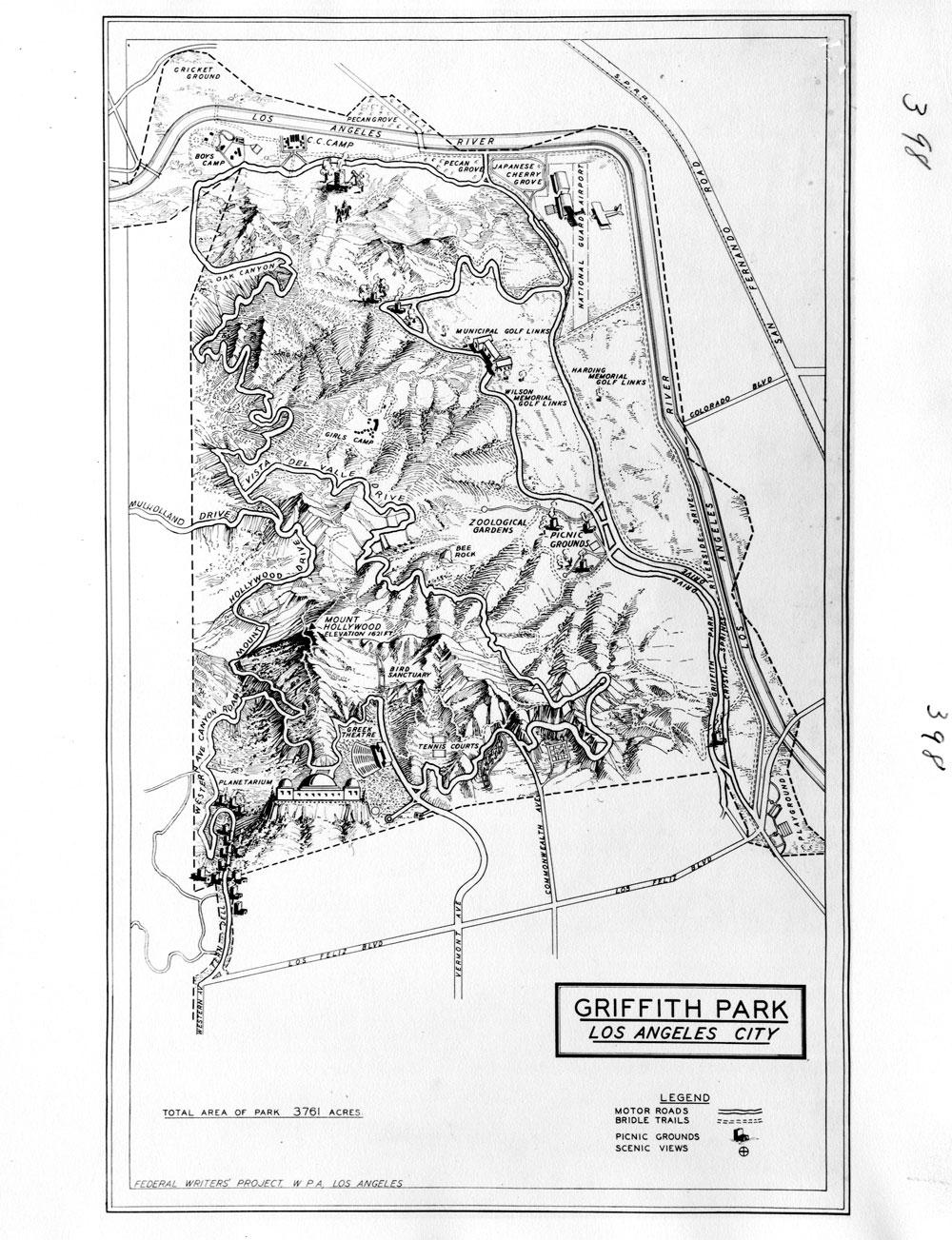 Griffith Park Los Angeles Map.Citydig Constructing Griffith Park Los Angeles Magazine
