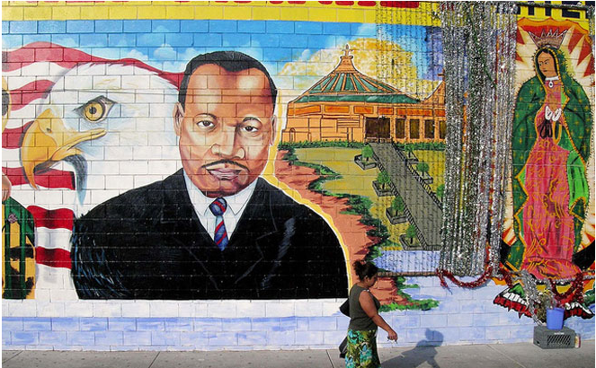 Inspiration Wall L A S Many Murals Of Martin Luther King Jr Los