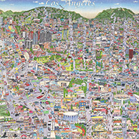 CityDig: This Hand-Drawn Map of L.A. in 1996 Reminds Us of The ... on