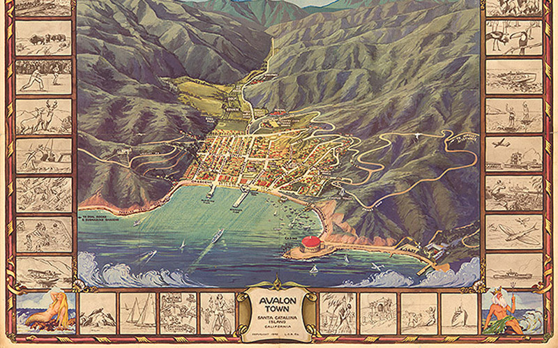 This Map Reveals That Catalina Once Had Its Own Wrigley