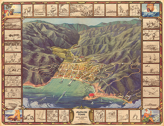 This Map Reveals That Catalina Once Had Its Own Wrigley Field Los