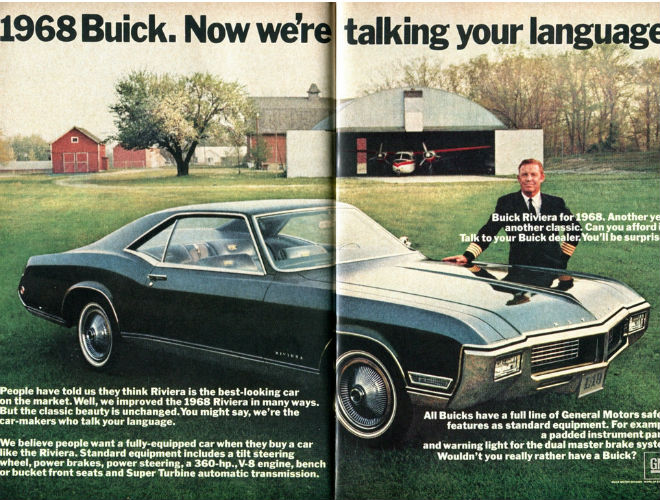 the comeback of ugly death and resurrection of the buick riviera1968 in 1968, the model sported reshaped front and rear loop type bumpers that wrapped around the grille and tail lamps the interior was restyled again