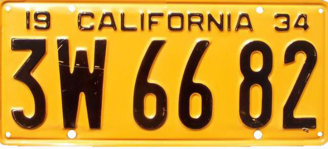 The Colorful History of California License Plates Los Angeles Magazine