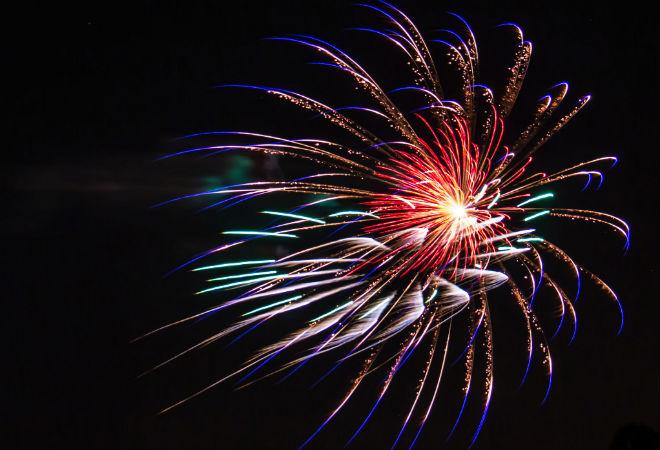 fireworks in LA