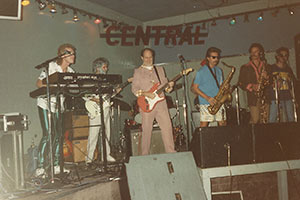 Billy Vera and The Beaters on Halloween night at The Central in 1987. Photograph courtesy Billy Vera.