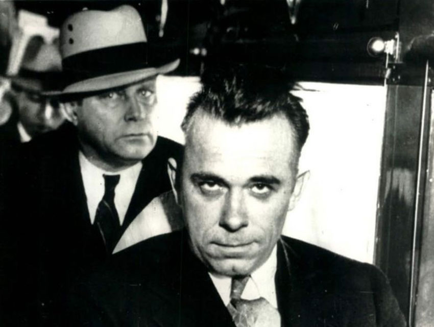 Chicago bank robber John Dillinger and an associate dressed up, then gunned down