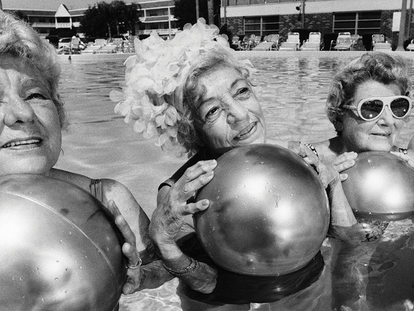 Elderly ladies in a swimming pool