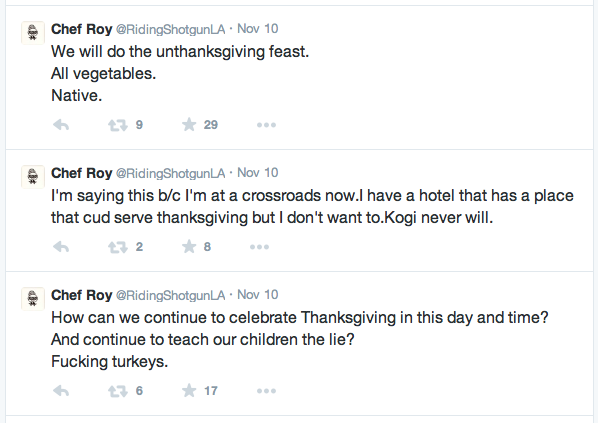 Roy Choi turkey tweets