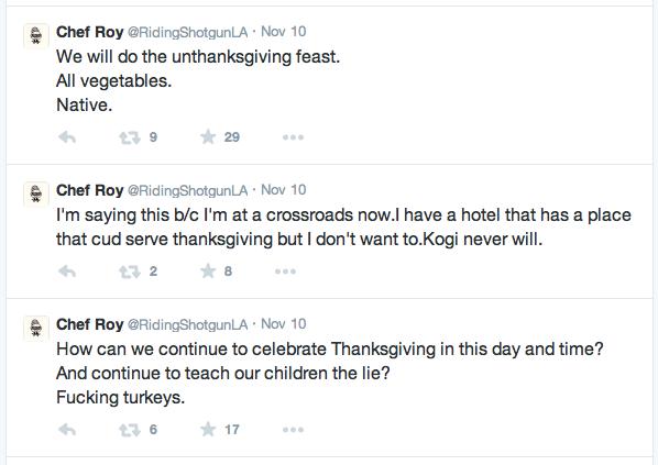 Roy Choi turkey tweets