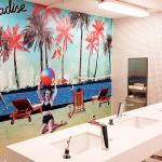 Pool washroom mural