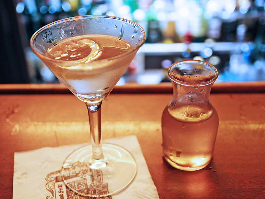 """Listen to Sinatra's """"That's Life"""" while sipping on Musso & Frank's Martini."""