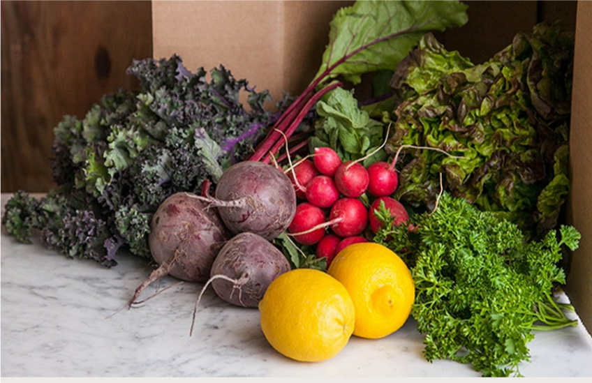Good Eggs has produce boxes that start at $20.