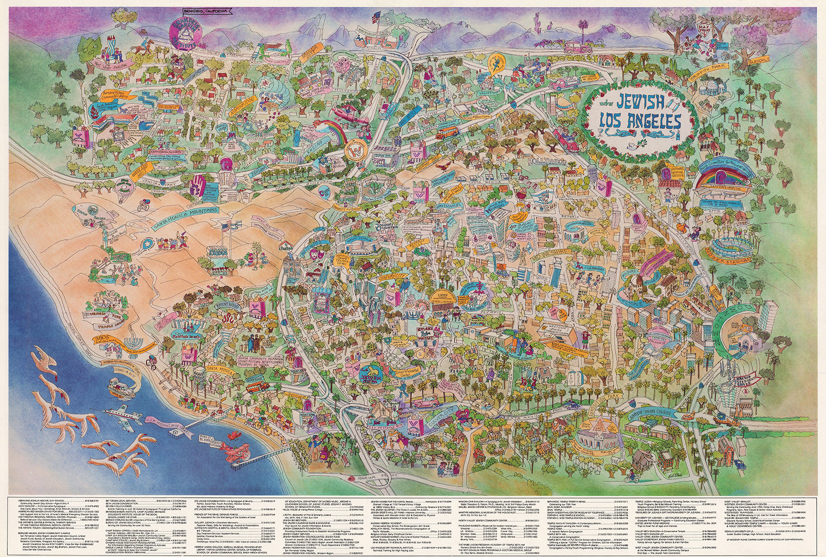 Citydig We Like This Map Of Jewish L A A Whole Latke Los Angeles