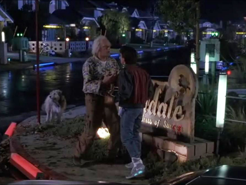 A screen grab from Back to the Future Part II