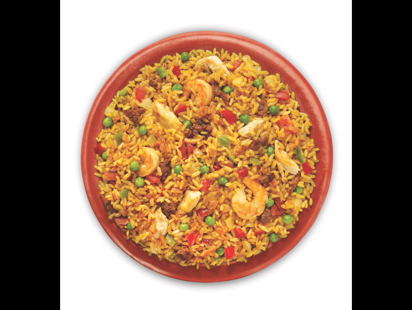 Padma's paella is a one-dish meal.