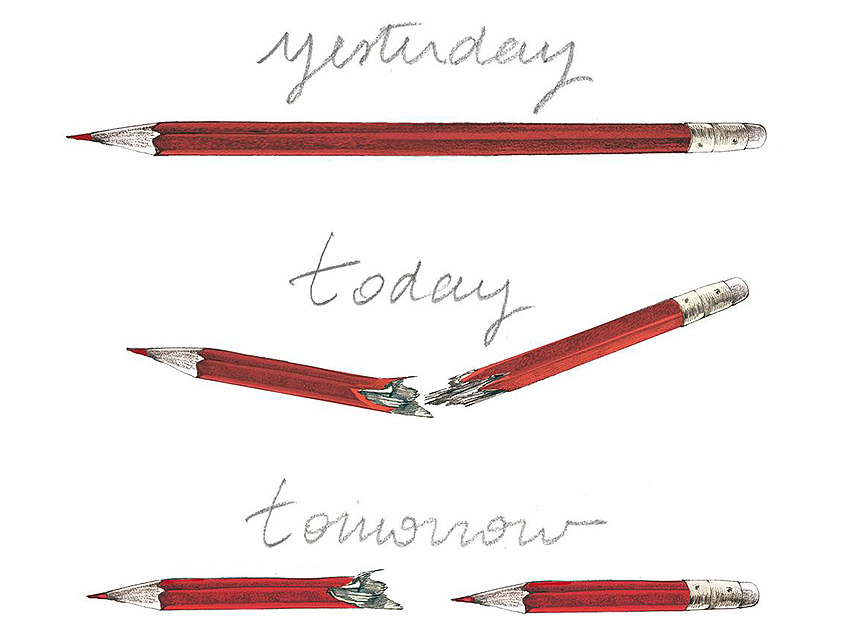 French illustrator Lucille Clerc paid tribute to the attack with this powerful image.