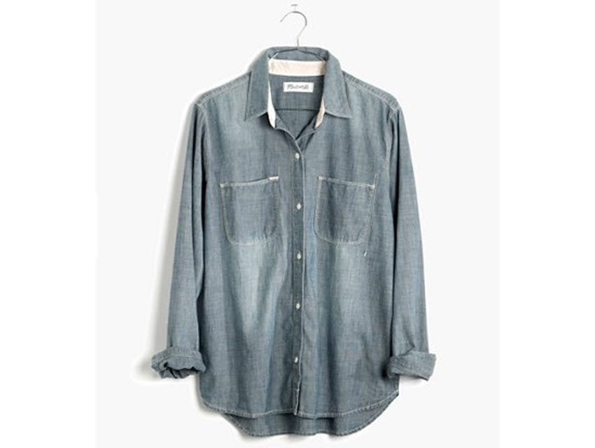 Madewell's chambray shirt