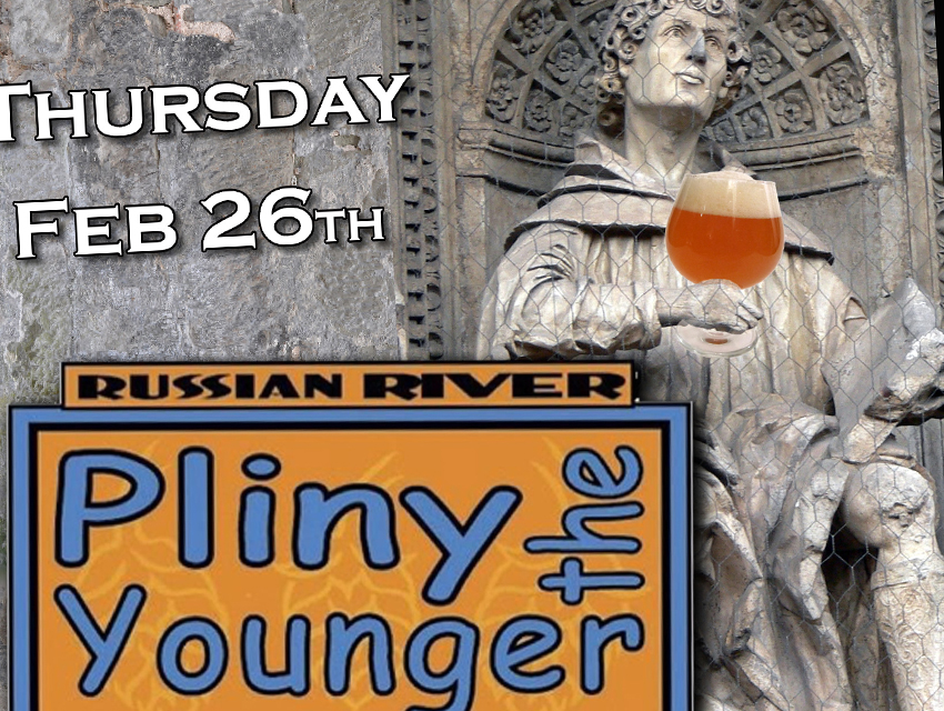 Verdugo Bar's Pliny the Younger event poster