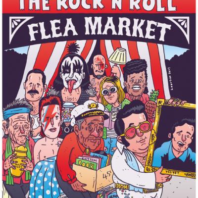 Rock 'N' Roll Flea Market Poster