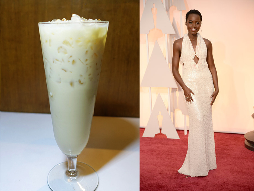 Harlowe chai tea cocktail and Lupita Nyong'o