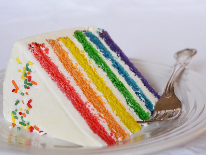 Caroline Kostiuk will be serving rainbow cake at her pop-up this weekend.