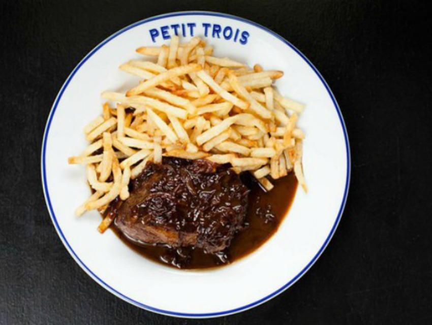 Steak frites at Petit Trois