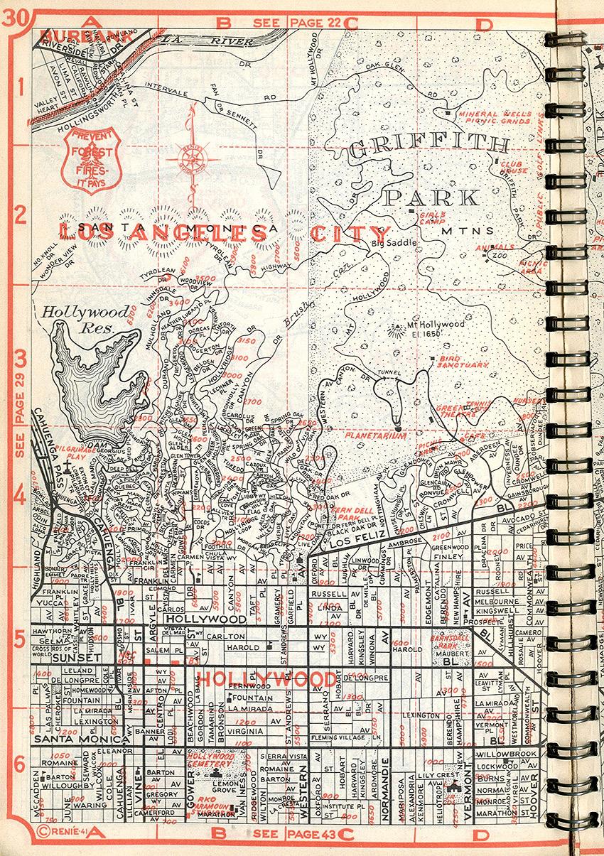 The New Renie Atlas of Los Angeles, Jack Renie, 1942