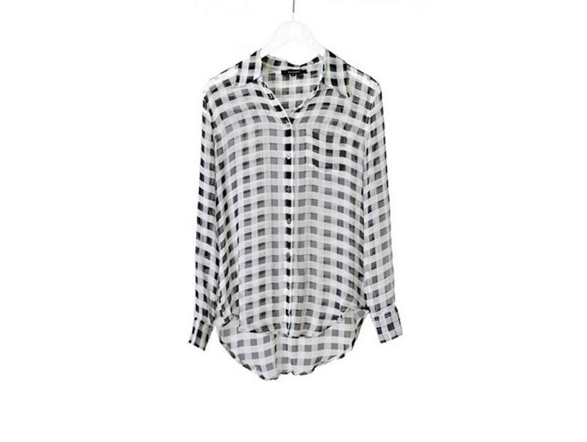 LF Stores' gingham shirtdress