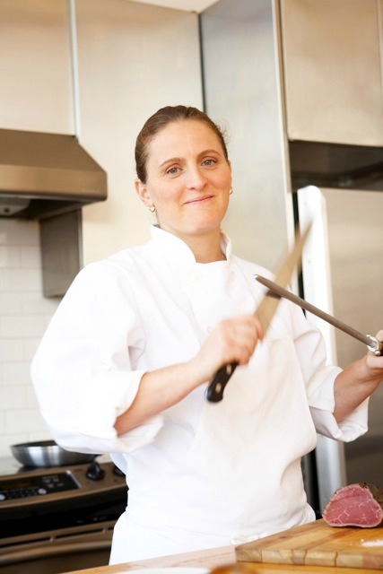 April Bloomfield is ready to show L.A. her knife skills.