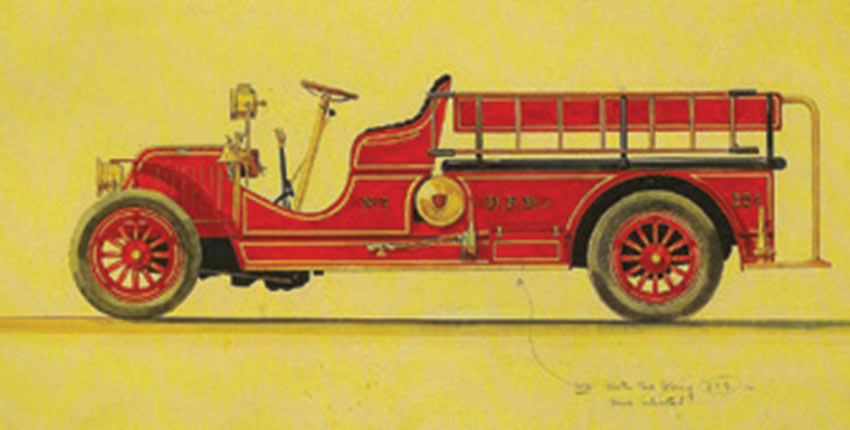 """Ward Kimball was one of  Walt's crazier animators. He had me drive his 1916 American LaFrance fire truck, and I wanted one. I talked Walt into letting me do the Fire Engine for Disneyland's Main Street."""