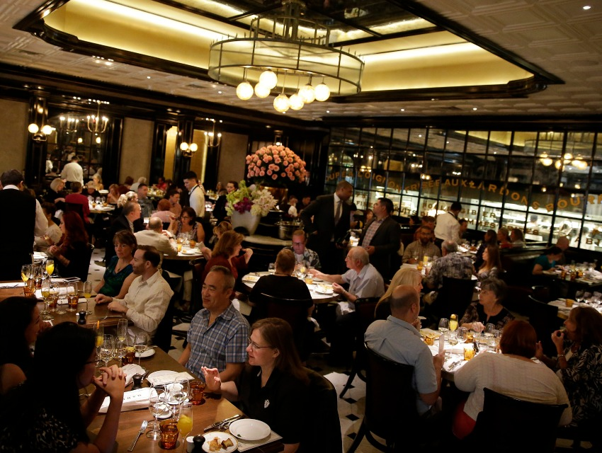 Michael Mina's new restaurant at Aria was packed for a special Vegas Uncork'd brunch.