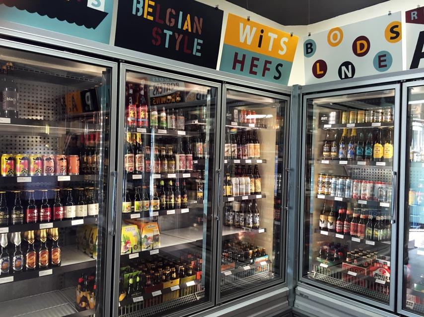 The Heights offers a wide selection of local, domestic, and foreign beer.