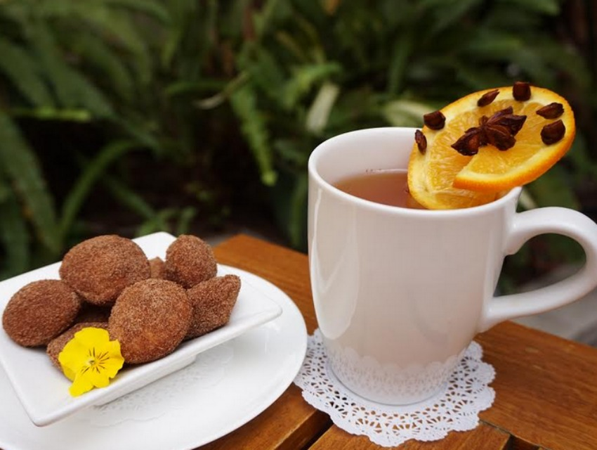 Calvados apple cider and beignets could be a good afternoon pick-me-up.
