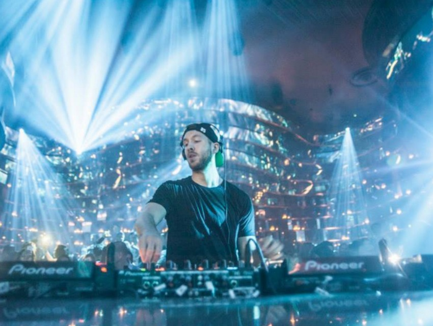 DJ Calvin Harris brought the beats to Omnia's grand opening weekend.
